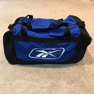 Reebok Blue & Black Duffle Bag